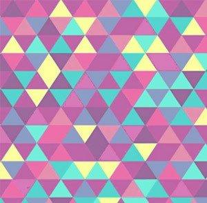 papier peint motifs triangles annees 60