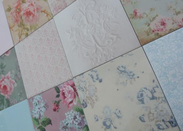 Des motifs floraux pour un d cor de charme blog mode for Motif carrelage salle de bain
