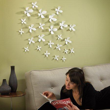 mur fleurs