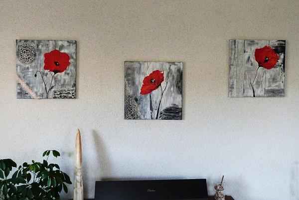 tableau coquelicots